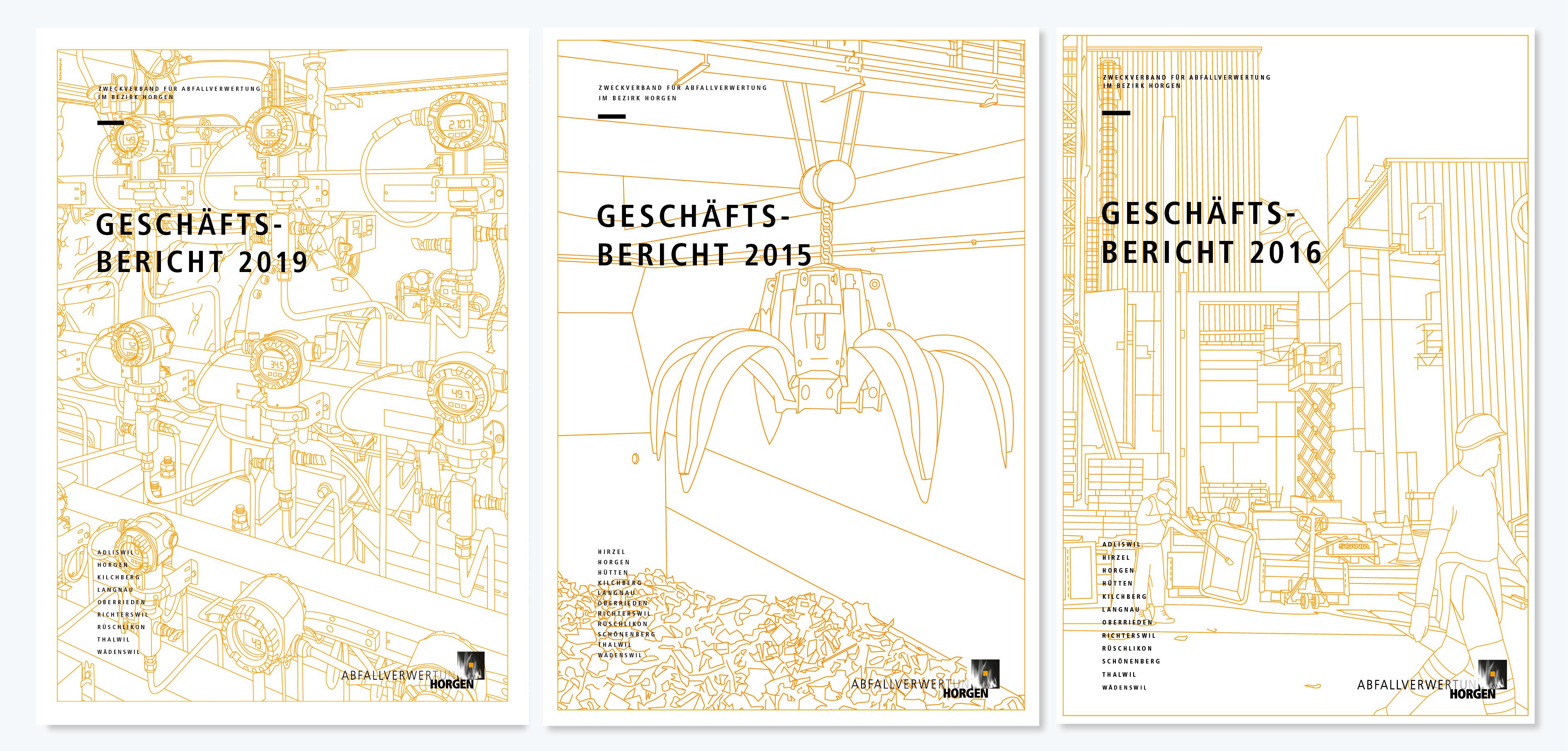 KVA Horgen – Geschäftsbericht, Illustration & Layout