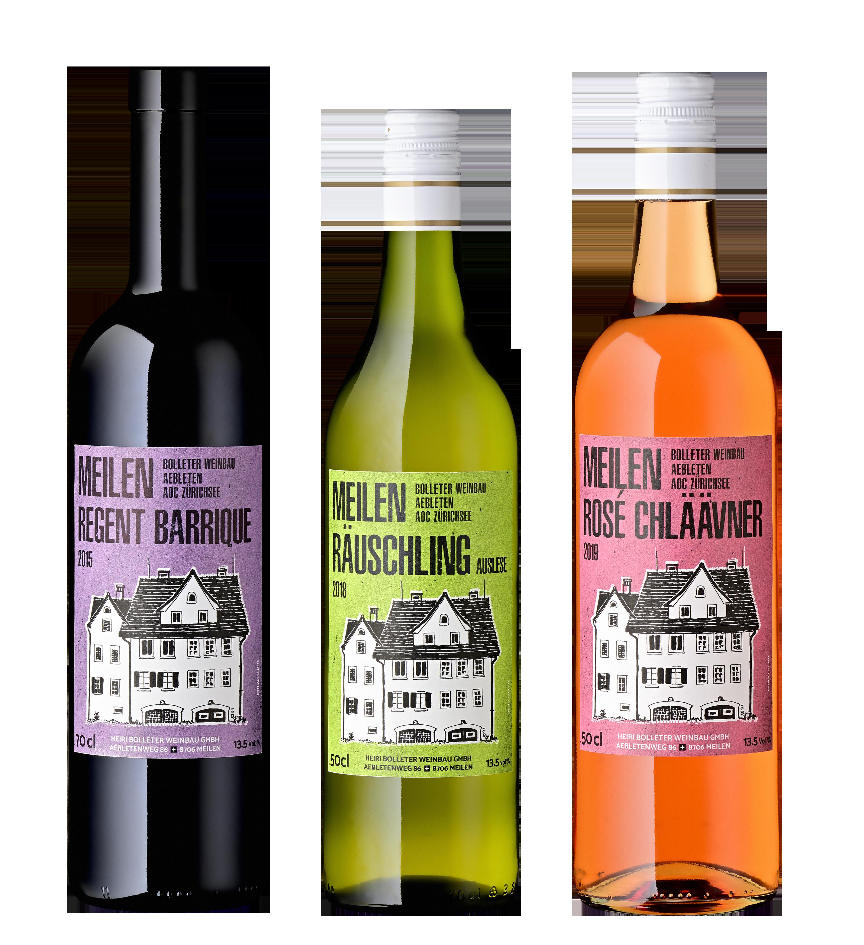 Bolleter Weinbau – Etiketten-Gestaltung
