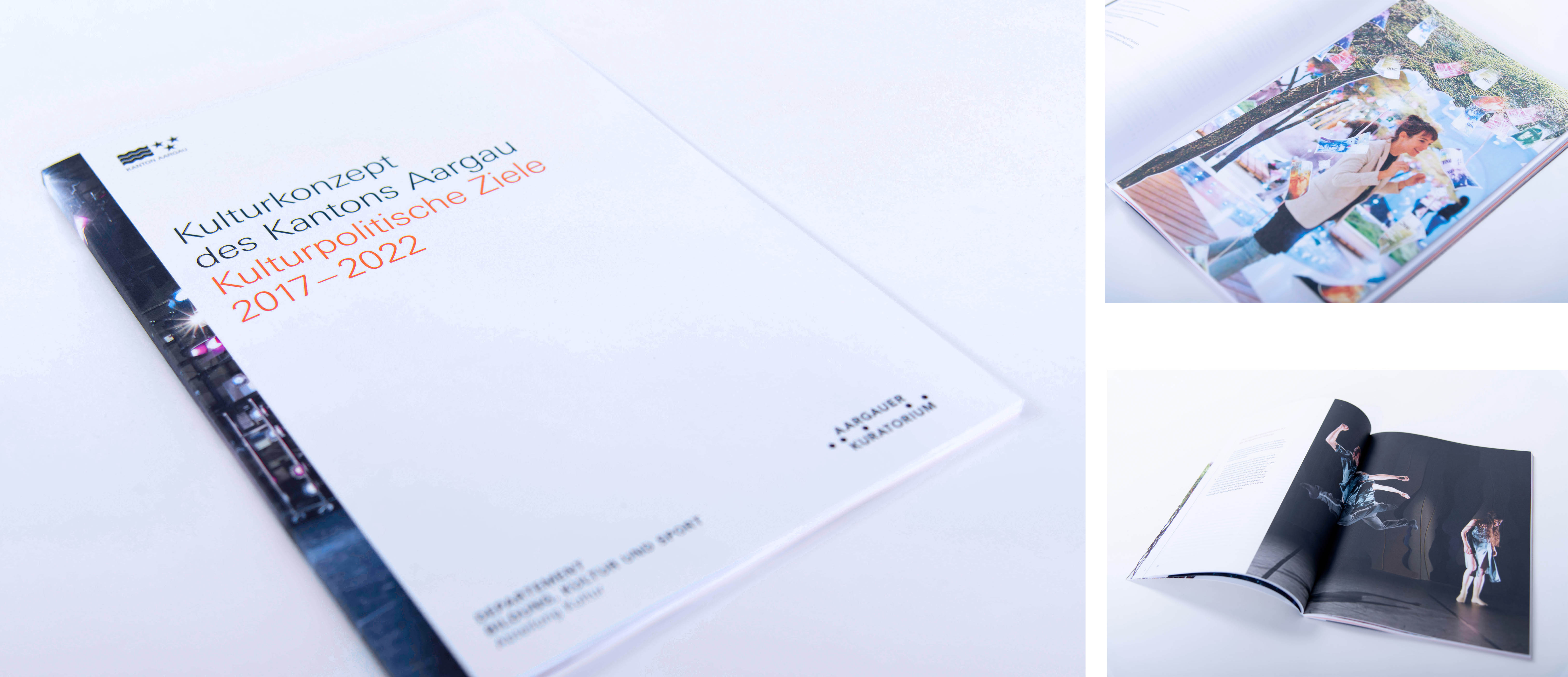 Kanton Aargau – Kulturkonzept 2017-2022, Editorial Design